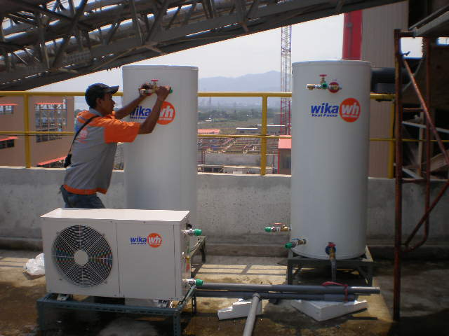 pemasangan heat pump